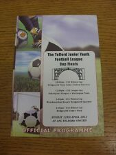 22/04/2012 Football Programme: Telford Junior Youth League Cup Finals - U12 x2,