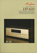 Accuphase DP-600 Katalog Prospekt Catalogue Datasheet Brochure