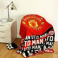 XL Manchester United Football Club Lana Di Pecora Morbida Coperta Scialle