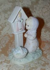 Vtg LEFTON FIGURINE Christopher Collection Now THE LORD WATCHES OVER US Catholic
