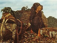 GORDON SETTER BLACK and TAN GUN DOG FINE ART LIMITED EDITION PRINT