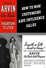 Arvin Car Radio 1938 - Tailor Fit Arvin Car Radio - How to Win Customers and Inf