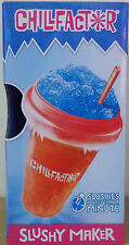 Chill Factor ~ Squeeze Cup Slushy Maker ~ Make Frozen Ice Drinks ~ Red