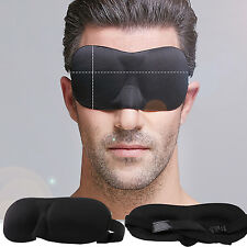 W 3D Eye Mask Soft Padded Sleep Travel Shade Cover Rest Relax Sleeping Blindfold