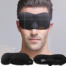 W 3D Eye Mask Soft Padded Sleep Travel Shade Cover Rest Relax Sleeping Blindfold