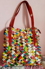 Nahui Ollin Tutti Frutti multicoloured candy wrapper shoulder bag