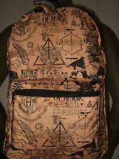 Harry Potter Ministry of Magic Hogwarts Dragon Horcrux Symbols Backpack Book Bag