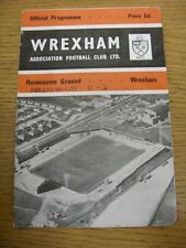 24/02/1968 Wrexham v Bradford City  (Creased, Match Details Noted On Cover, Nick