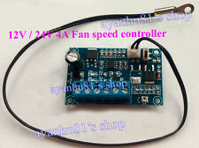 12V 24V DC 4A PWM PC CPU Fan Temperature Control Thermostat Speed Controller