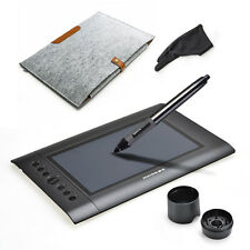 Huion H610 USB Graphics Drawing Tablet Pro Art drawing + Wool Liner Bag Fast USA