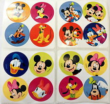 48 Disney Mickey Mouse Minnie Goofy Donald Stickers Party Favors Teacher supply