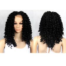Long Deep Curly Heat Resistant Lace Front Synthetic Hair Wigs Women Lace Wig 18