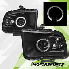 [LED Halo] 2005 2006 2007 2008 2009 Ford Mustang Black Projector Headlights Pair