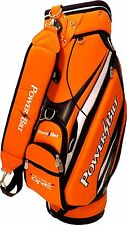 NEW PowerBilt Golf Air Force One N7 Air Foil Staff Bag 5-way Top Orange / Black