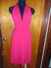 Victoria's Secret Moda International Red Convertible Multi Way Halter Dress XS