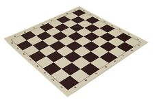 "20"" High Quality Vinyl Chess Board – Meets Tournament Standards - Burgundy"
