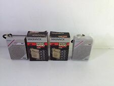 2 Magnavox D1066 AM Pocket Radios Vintage 1970's 1 New in Open Box 1 used in box