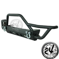 Rock Crawler Front Bumper with Winch Plate (Fit For:87-06 Jeep YJ TJ Wrangler)