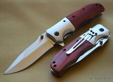 ELK RIDGE SPRING ASSISTED KNIFE WOOD HANDLE WITH POCKET CLIP BRAND NEW!!!