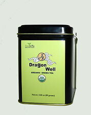 Dragon Well Premium Green Tea Organic Green Tea loose Leave tea 3 OZ TIN