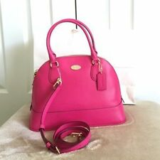 Coach Bag F33909 Cora Domed Crossgrain Satchel IMBAJ Pink Ruby Agsbeagle COD