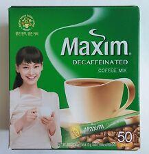 Korean Instant Maxim Decaf Coffee Mix Collection 50 Sticks