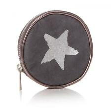 Shruti Coin Purse Grey & Silver with Star Design Wallet Pouch Money Clutch
