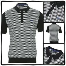 FRED PERRY MENS VINYL 45'S inspired KNITTED SHIRT  UK SIZE XS