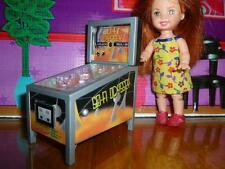 BARBIE KELLY DOLL SIZE TOY DOLLHOUSE FURNITURE PINBALL MACHINE LIGHTSOUNDS