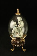 Franklin Mint Disney 101 Dalmations Collectors Glass Dome Egg Footed Figurine
