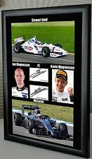 "Jan & Kevin Magnussen Framed Canvas Tribute Print Signed ""Great Gift & Souvenir"""
