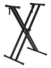 Adjustable Metal Music Keyboard Electronic Piano Dual Tube X Stand Standard