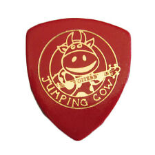 Leather Pick Plectrum For Ukulele & Banjo Jumping Cow Warm Tone - Red 2.5mm