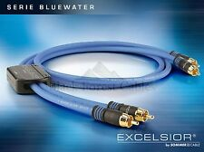 Sommercable EXCELSIOR® BlueWater Highend RCA/Cinch-Kabel 2 x 1,5 m
