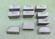 10 VHM Schneidplatte HS345 Wechselplatte Drehmeißel Hartmetall Platte Drehstahl