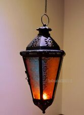 HANGING MOROCCAN LANTERN METAL TEALIGHT CANDLE HOLDER LAMP WITH CHAIN