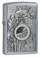 Zippo Windproof Joined Armed Forces Military Lighter, 24457, New In Box
