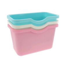 4pc Plastic Basket Wastebaskets Cabinet Drawer Hanging Trash Can Bins Containers