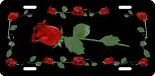 Red Roses Auto License Plate Gifts Ladies Girls Sweethearts Flowers