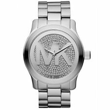 Michael Kors MK5544 Runway Stainless Steel Crystal Dial Women Wrist Watch Dress