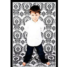 5x9 ft Black White Photography Backdrop Flocked Damask Background 100% Seamless