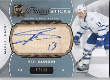 2015-16 UD THE CUP MATS SUNDIN /35 SCRIPTED STICKS #SS-MS 15-16