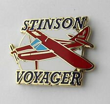 STINSON VOYAGER LIGHT AIRCRAFT COMPANY LAPEL PIN BADGE 1.5 INCHES