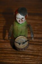 Vintage Schuco Clockworks Clown Monkey Drummer Made in Germany Antique- Wind Up