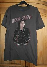 Grey Amplified Michael Jackson Bad T-Shirt Top Size S