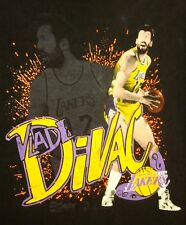LOS ANGELES LAKERS med T shirt Vlade DiVac basketball Serbian tee Salem 1990s