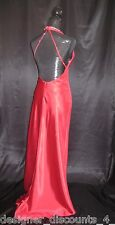Flirt Maggie Sottero Liquid RED Dress P4313  formal beaded halter sexy gown SZ 0