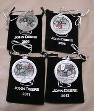 2008-2009-2011-2012 John Deere Pewter Christmas Ornament -- ALL NEW