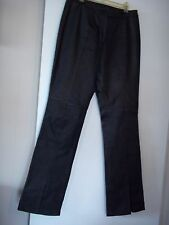 Boutique Europa Women 100% Black Leather Pants Sz 6 ~Inseam 31~ Motorcycle NWOT
