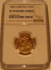 Great Britain 1986 Gold 1 Sovereign NGC PF-70UC